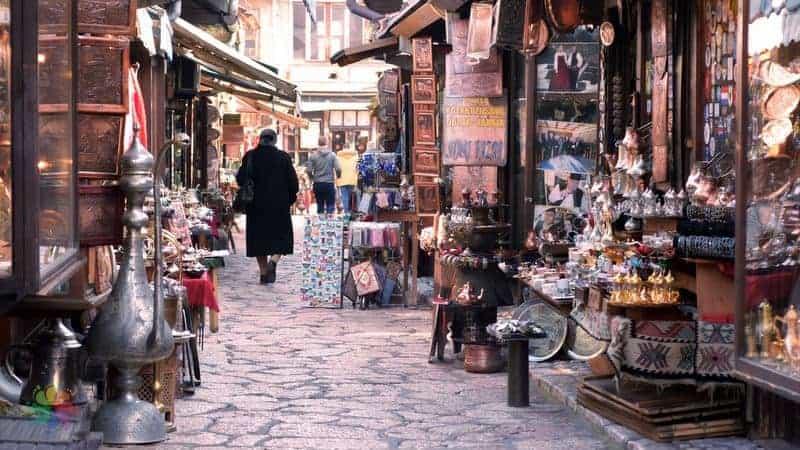 Saraybosna'da alışveriş