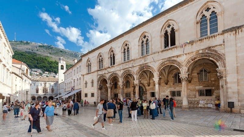 Dubrovnik'te görülmesi gereken yerler Rektör Sarayı