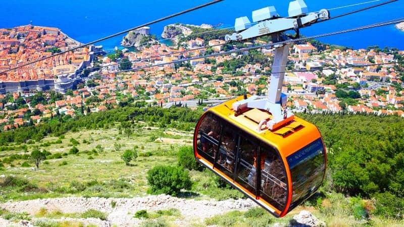 Dubrovnik'te görülmesi gereken yerler Teleferik