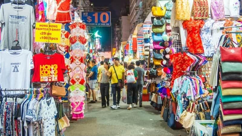 hong kong gezilecek yerler Ladies Market Tung Choi Caddesi