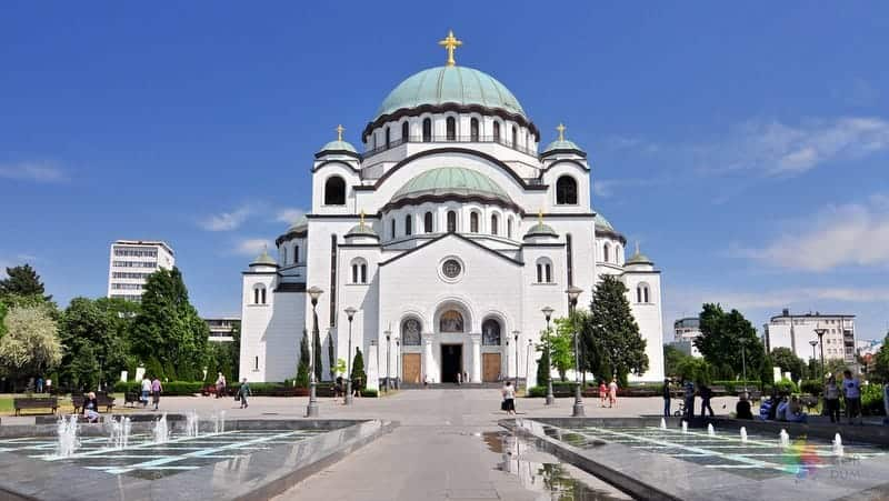 Aziz Sava Katedrali Belgrad görülecek yerler