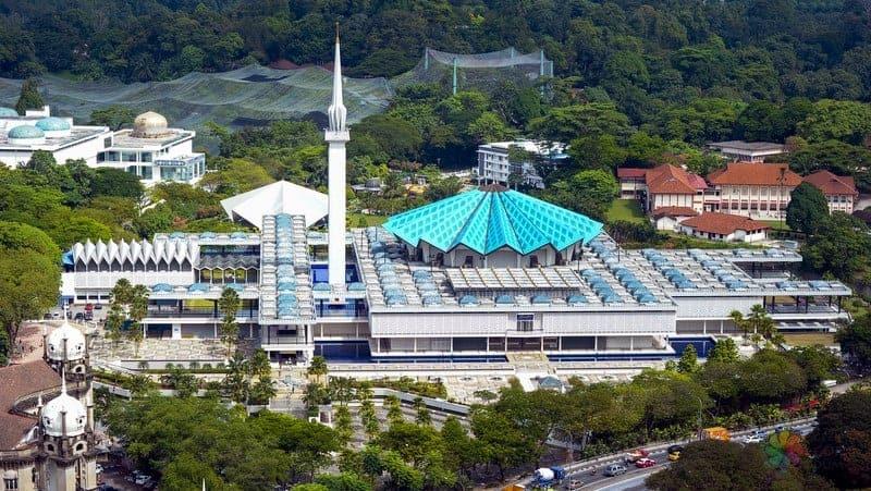 National Mosque of Malaysia kuala lumpur gezilecek yerler
