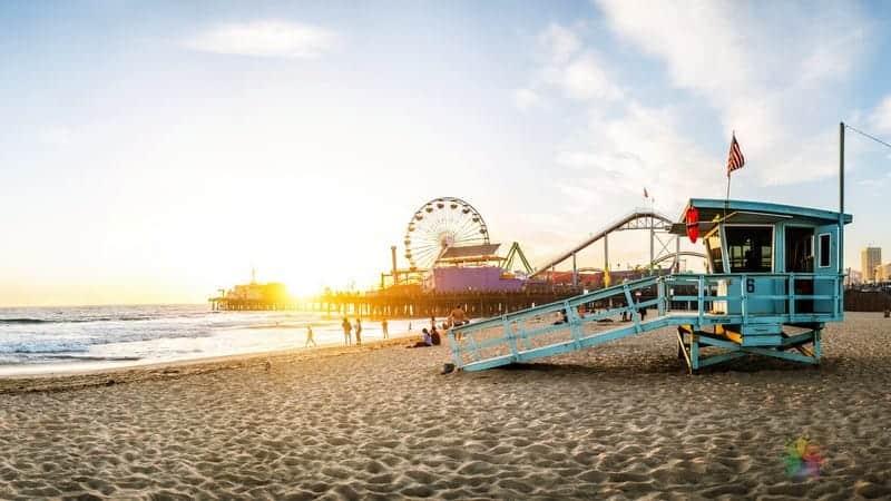 los angeles'ta nerede kalınır Santa Monica