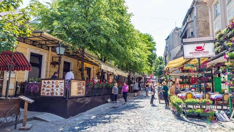 Belgrad gezisi Skadarlija bölgesi