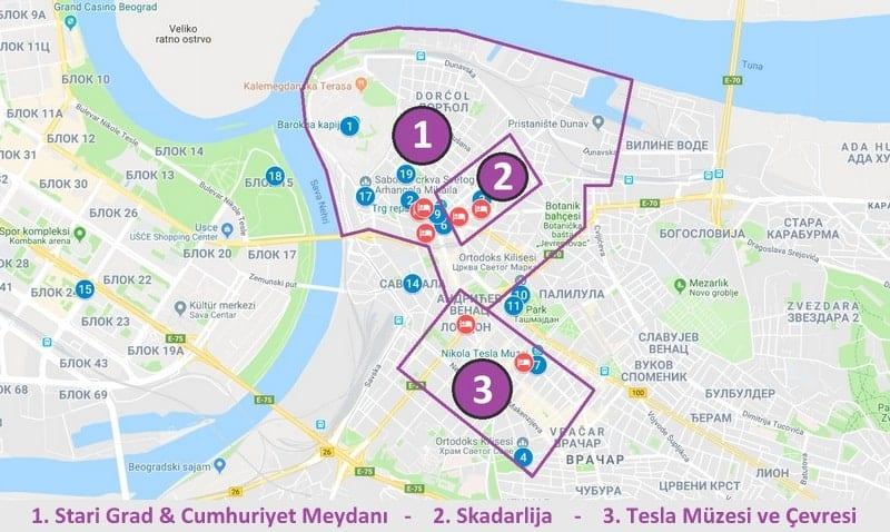 Belgrad'da nerede kalınır konum bilgileri