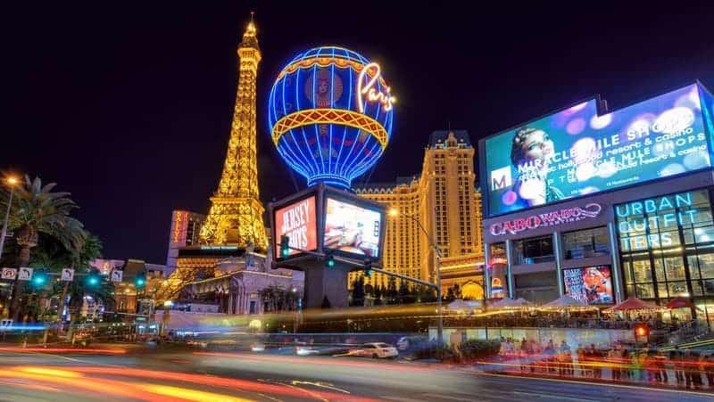 Las Vegas gezilecek yerler Paris otel casino