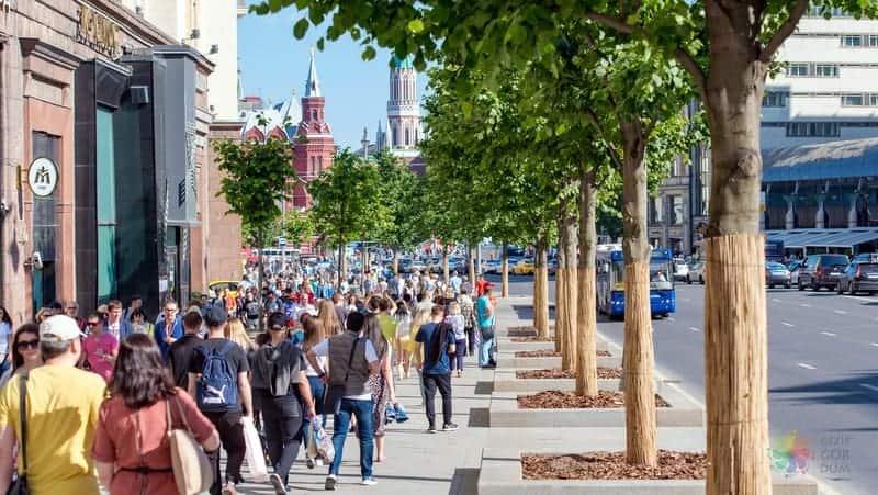 moskova gezisi Tverskaya Caddesi