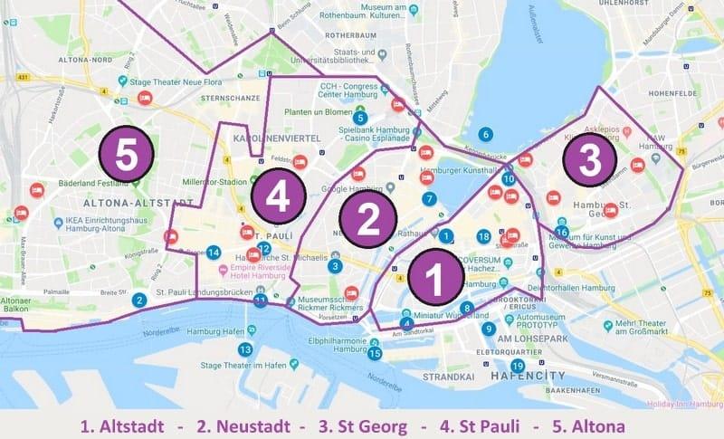 Hamburg'da konaklama yapılacak bölgeler ve otel tavsiyeleri