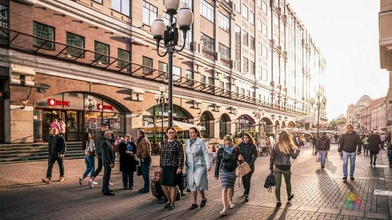 moskova gezisi Arbat Caddesi
