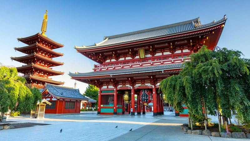 Sensoji tapınağı tokyo'da gezilecek yerler