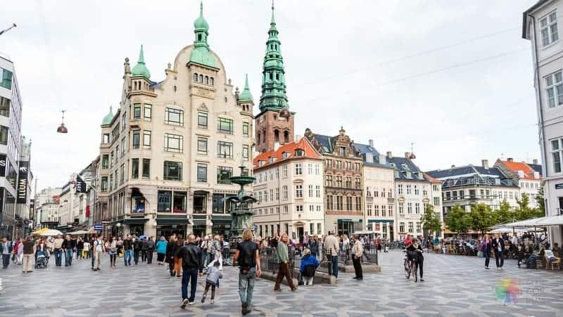 indre by stroget Kopenhag'da nerede kalınır