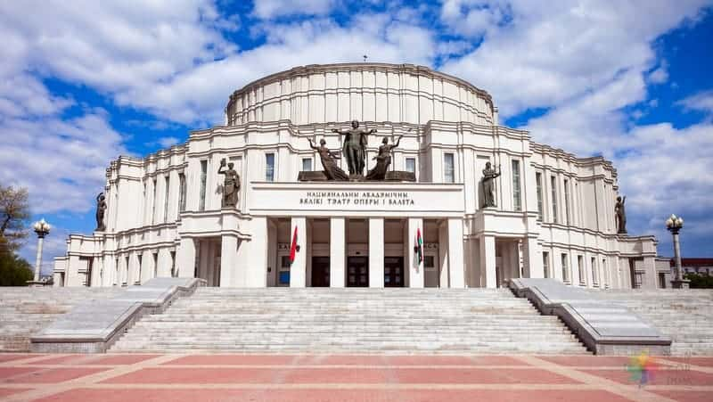 Belarus Opera ve Tiyatro Binası vizesiz belarus minsk gezisi