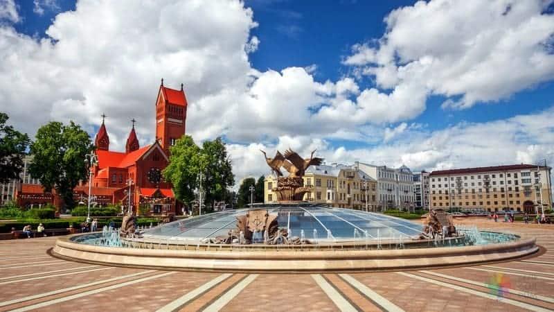 Independence Square vizesiz beyaz rusya minsk seyahati