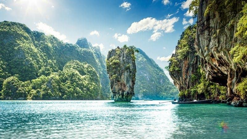 phuket gezilecek yerler Ko Tapu James Bond Adası