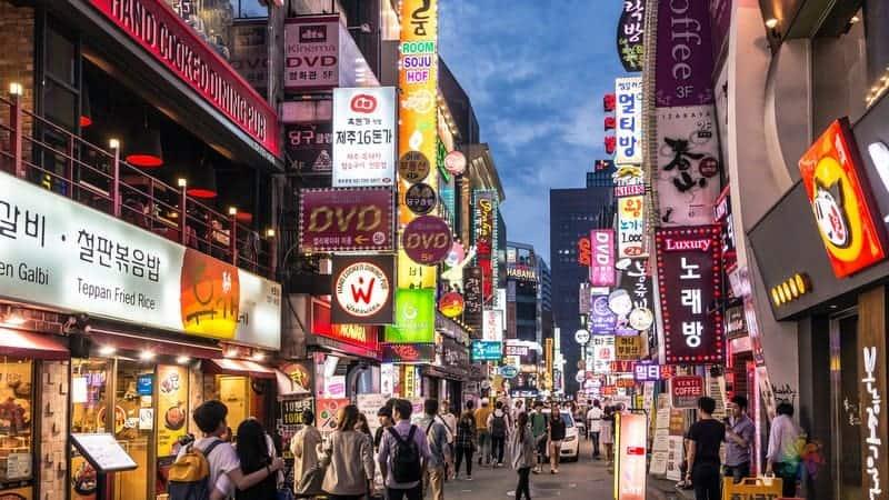 Myeongdong caddesi seul gezi rehberi