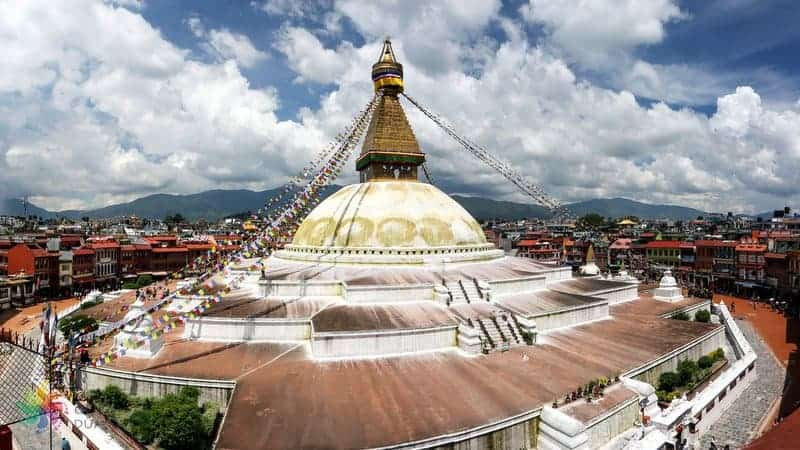 nepal gezilecek yerler Boudhanath Stupa