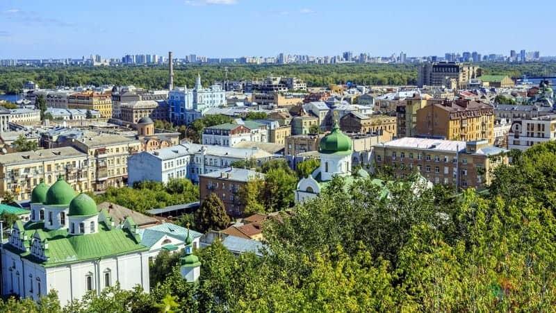 Kiev'de konaklama yapılacak bögleler Podil