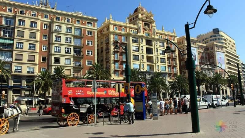 Malaga'da şehir içi ulaşım araçları
