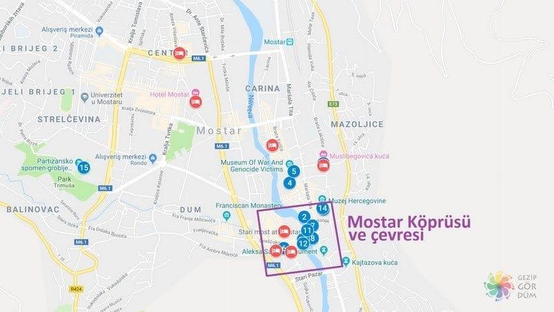 Mostar'da konaklama yapılacak yerler