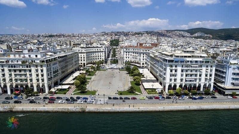 Selanik'te konaklama Aristotelous Meydanı çevresindeki oteller