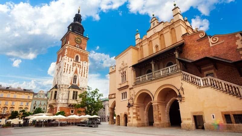 Krakow Town Hall Tower Krakow gezilecek yerler