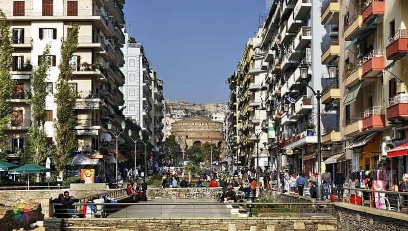 Selanik'te konaklama Selanik Navarino Meydanı bölgesi