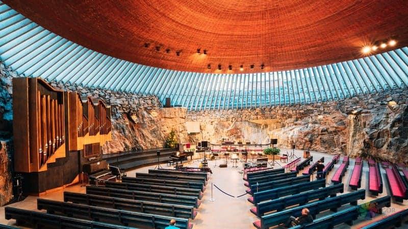 Temppeliaukio Church Rock Church Helsinki gezilecek yerler