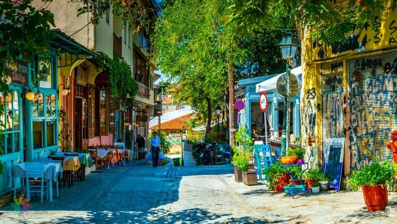 Ladadika bölgesi Selanik'te konaklama