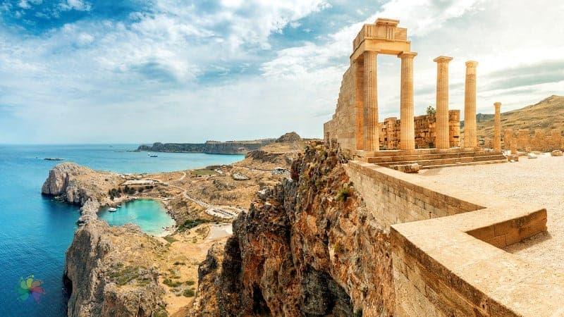 Acropolis of Lindos Rodos'ta gezilmesi gereken yerler