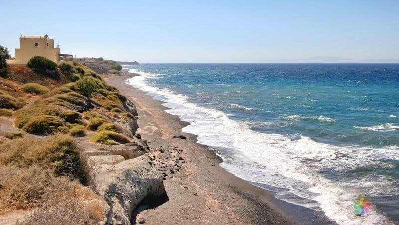 Cape Columbo Beach Santorini gezilecek yerler