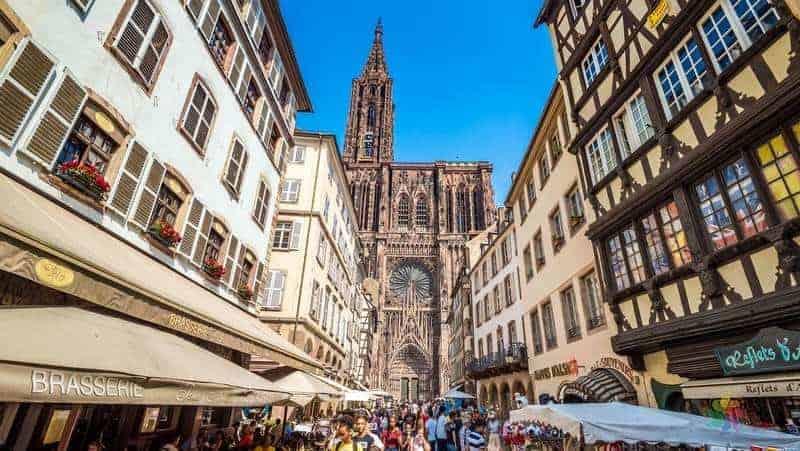 Cathedrale Notre Dame de Strasbourg strazburg gezi notları