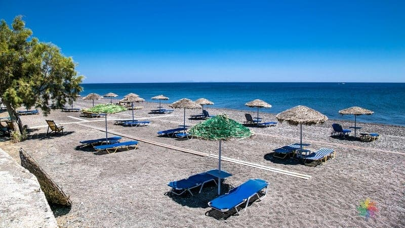 Monolithos Beach Santorini'de denize girilecek yerler