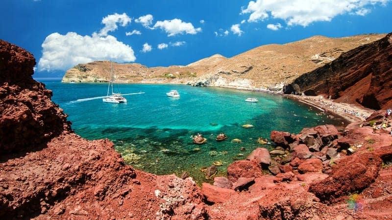 Red Beach Santorini gezilecek yerler