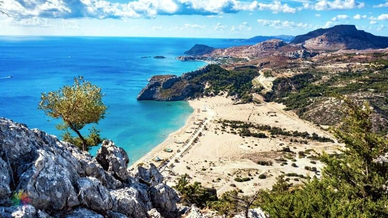 Tsambika Beach Rodos gezi notları