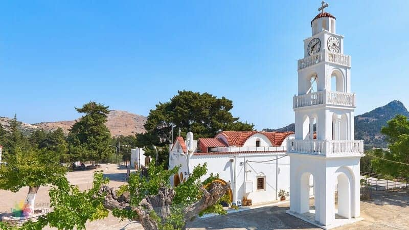 Tsambika Monastery Rodos'ta gezilmesi gereken yerler