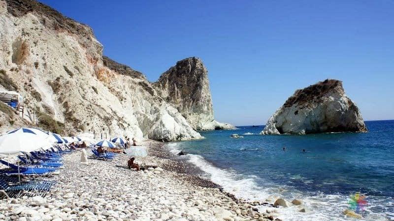 White Beach Santorini gezilecek yerler