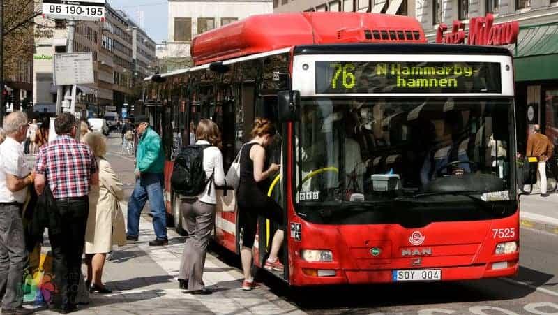 Stockholm ulaşım otobüs