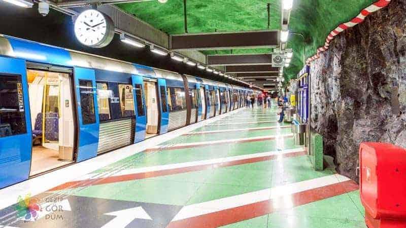 Stockholm şehir içi ulaşım metro
