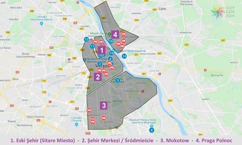 Varşova'da nerede kalınır konum bilgileri