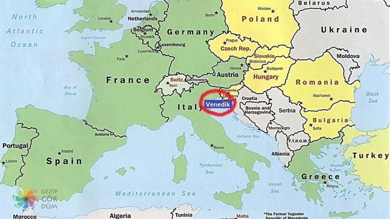 İtalya Venedik konum bilgileri