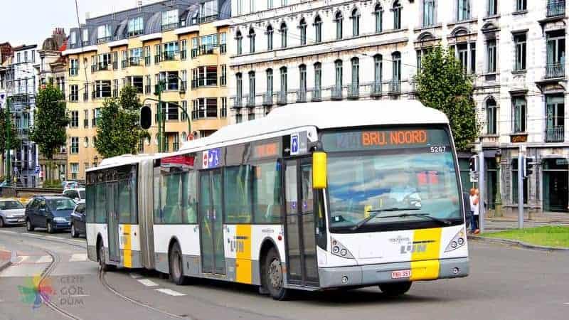 Brüksel şehir içi ulaşım otobüs