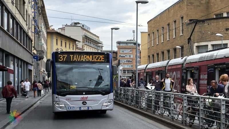 Floransa şehir içi ulaşım belediye otobüsü