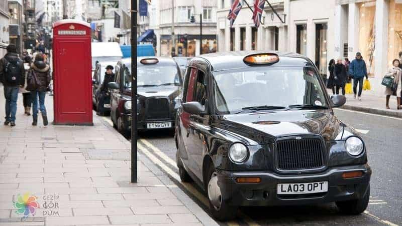 Londra şehir içi ulaşım taksi