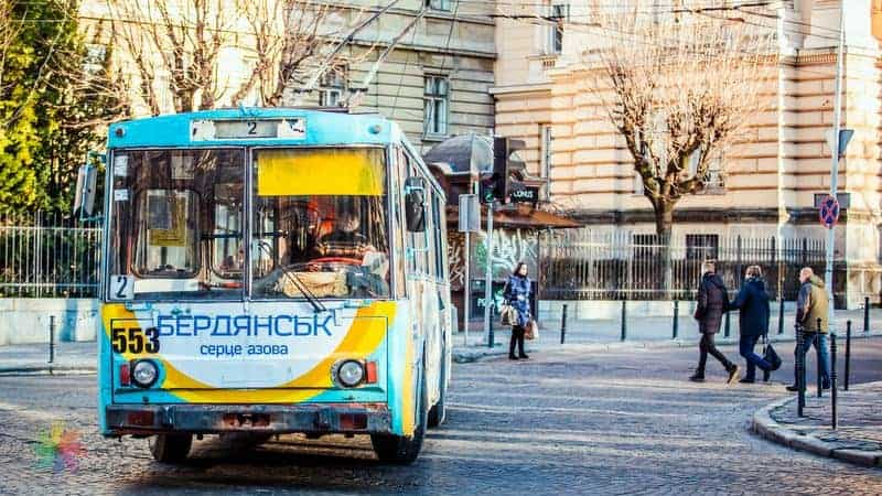 Lviv'de ulaşım Trolleybus
