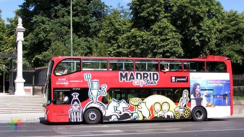 Madrid'de ulaşım hop on hop off