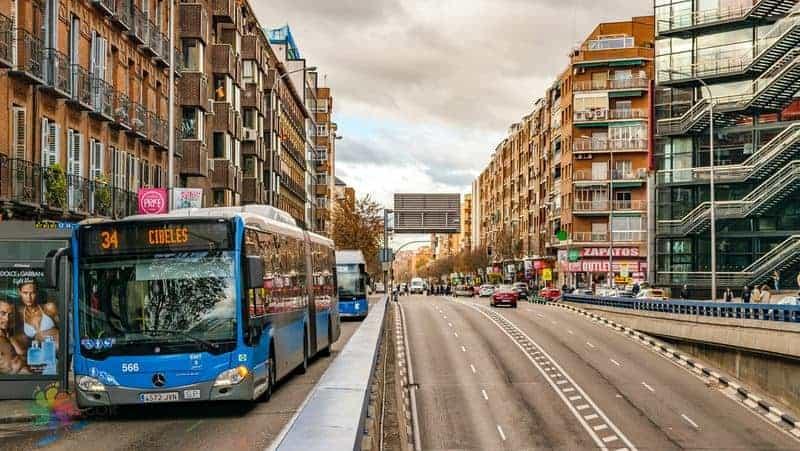 Madrid şehir içi ulaşım otobüs