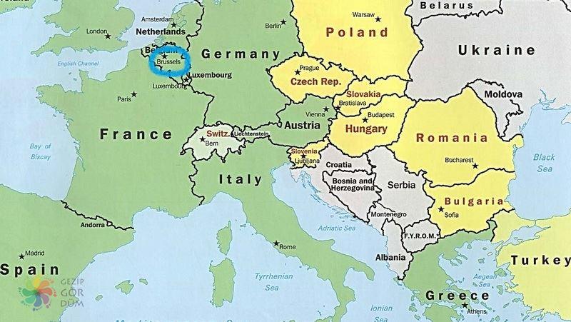 Brüksel haritası