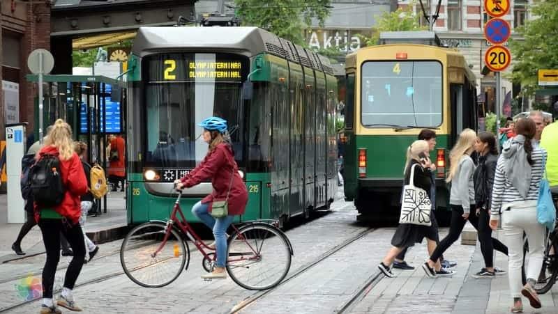 Helsinki'de nerede kalınır şehir içi ulaşım araçları