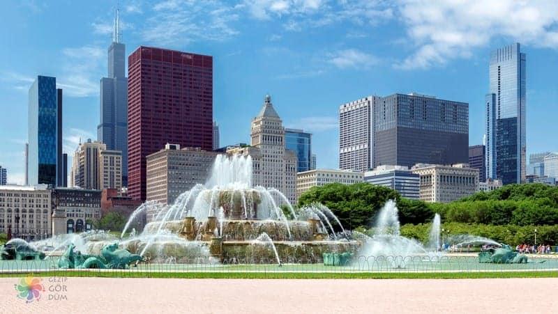 Buckingham Fountain Chicago gezilecek yerler