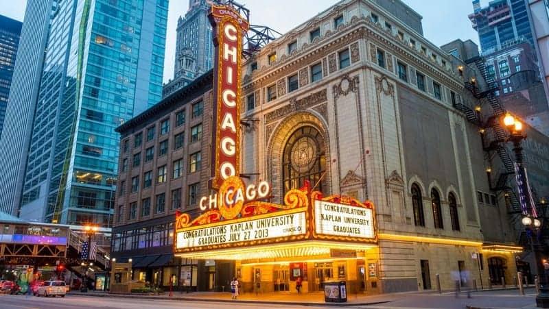 Chicago Theatre Chicago gezilecek yerler